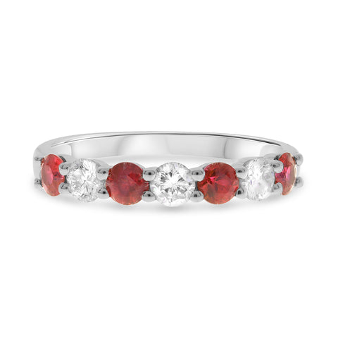 14k White Gold Ruby Ring (UR2016-1)