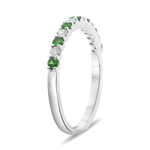 14k White Gold Tsavorite Ring (UR2022-11)