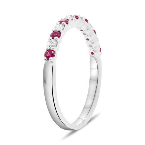 14k White Gold Ruby Ring (UR2022-8)