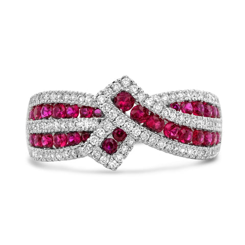 14k White Gold Ruby Ring (UR2118-1)