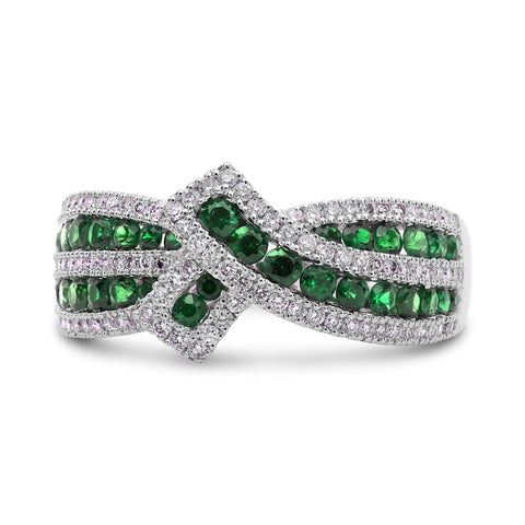 14k White Gold Tsavorite Ring (UR2118-3)