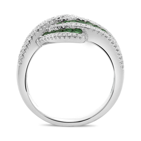 14k White Gold Tsavorite Ring (UR2123-3)
