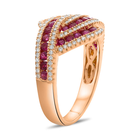 14k Rose Gold Ruby Ring (UR2123-4)