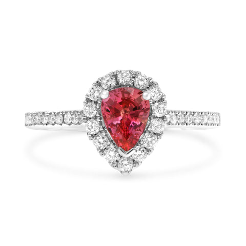 18k White Gold Ruby Ring (UR2161-2)