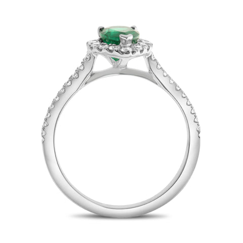 18k White Gold Emerald Ring (UR2161-5)