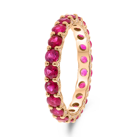 14k Rose Gold Ruby Ring (UR2253-5)