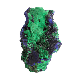 Azurite with Malachite from Liufengshan Mine, Chizhou Prefecture, Anhui Province, China