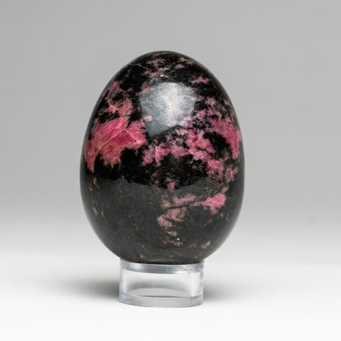 "Polished Imperial Rhodonite Egg from Madagascar (2.75"", 293 grams)"