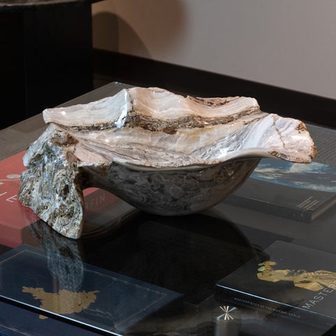 Natural Onyx Bowl From Mexico (24 lbs)