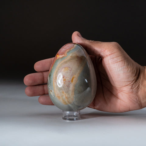 Polished Polychrome Egg from Madagascar (1.4 lbs)
