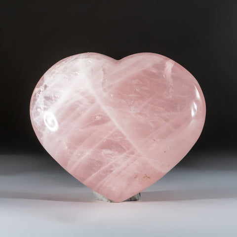 Polished Rose Quartz Heart from Brazil (1.6 lbs)