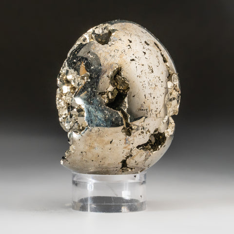 Polished Pyrite Geode Egg from Peru (279 grams)