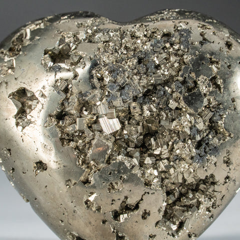 Polished Pyrite Heart from Peru (289 grams)