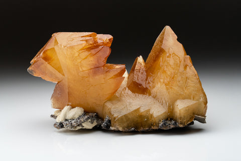 Twinned Golden Calcite Crystal from Elmwood Mine, Tennessee (5.5 lbs)