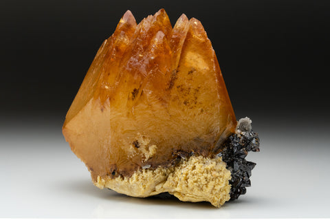 Twinned Golden Calcite Crystal from Elmwood Mine, Tennessee (3.5 lbs)