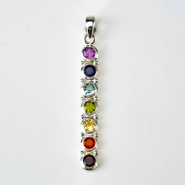 Multi Colored Gemstone Pendant