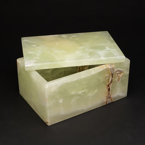 Rectangular Green Onyx Box from Mexico (3 lbs)