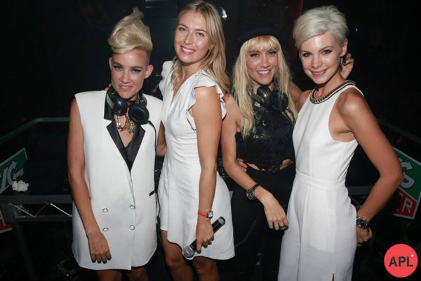 Maria Sharapova and NERVO in melbourne fashion boutique