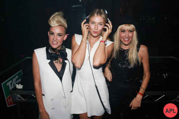 Maria Sharapova becomes a DJ with #socialseagulls NERVO