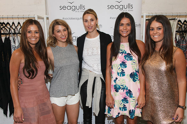 Joanna O'Connor Marketing Manager of Fashion Boutique Seagulls of St Kilda with Whitney Eve