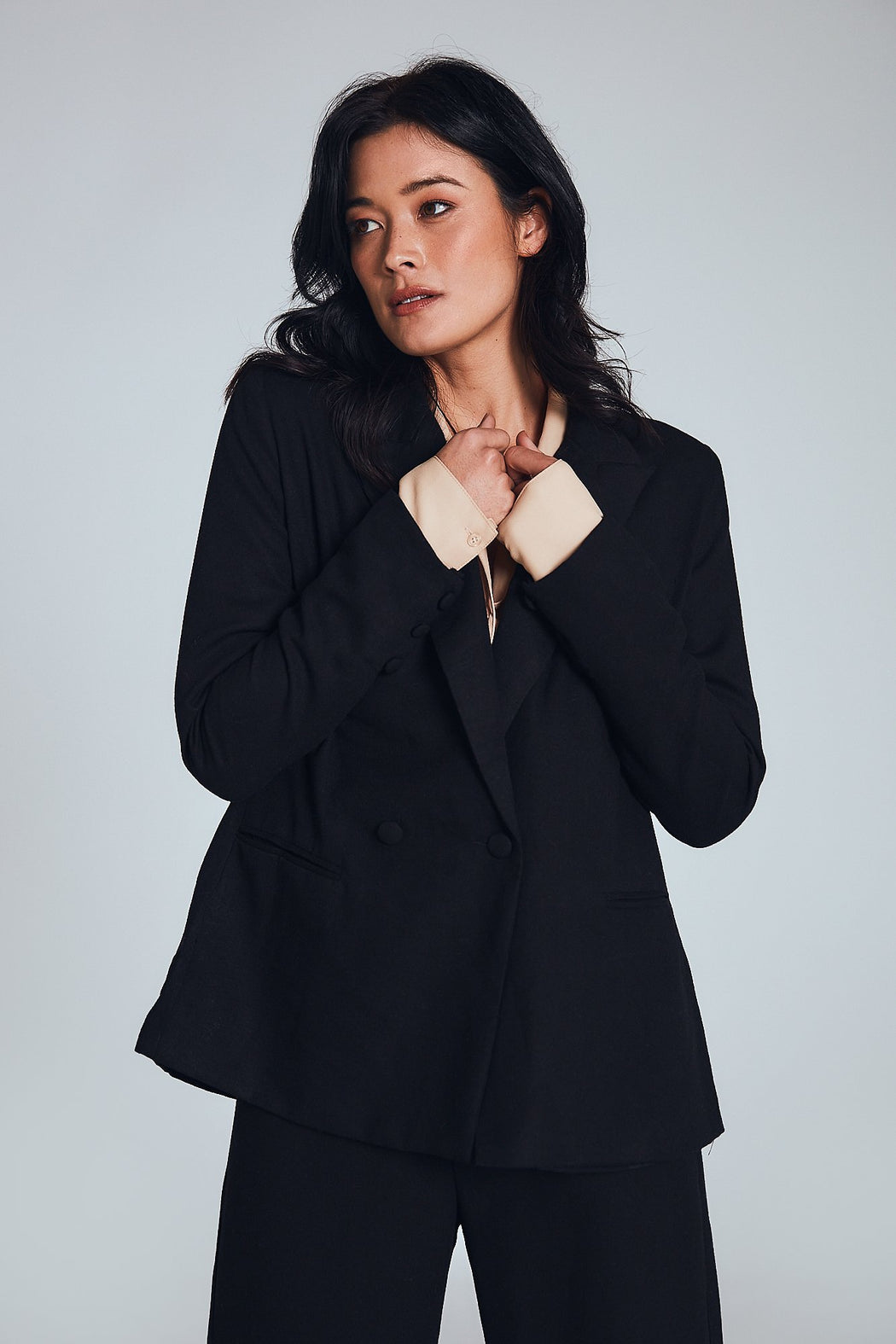 Marilyn Knit Blazer - Black