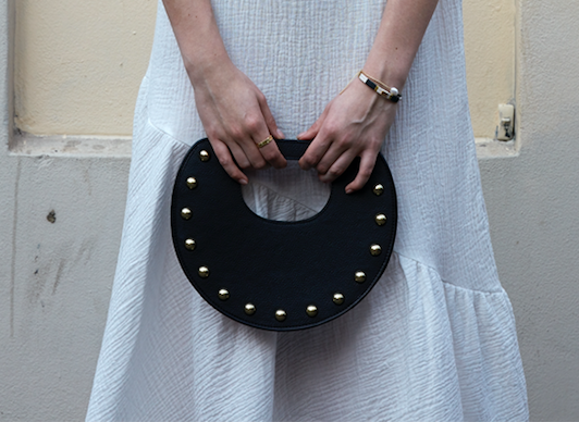 Crescent Clutch – Limited Edition Clutch with Gold Studs