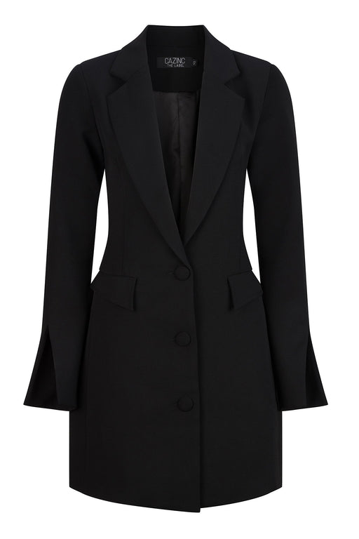 Abigail Blazer Dress - Black