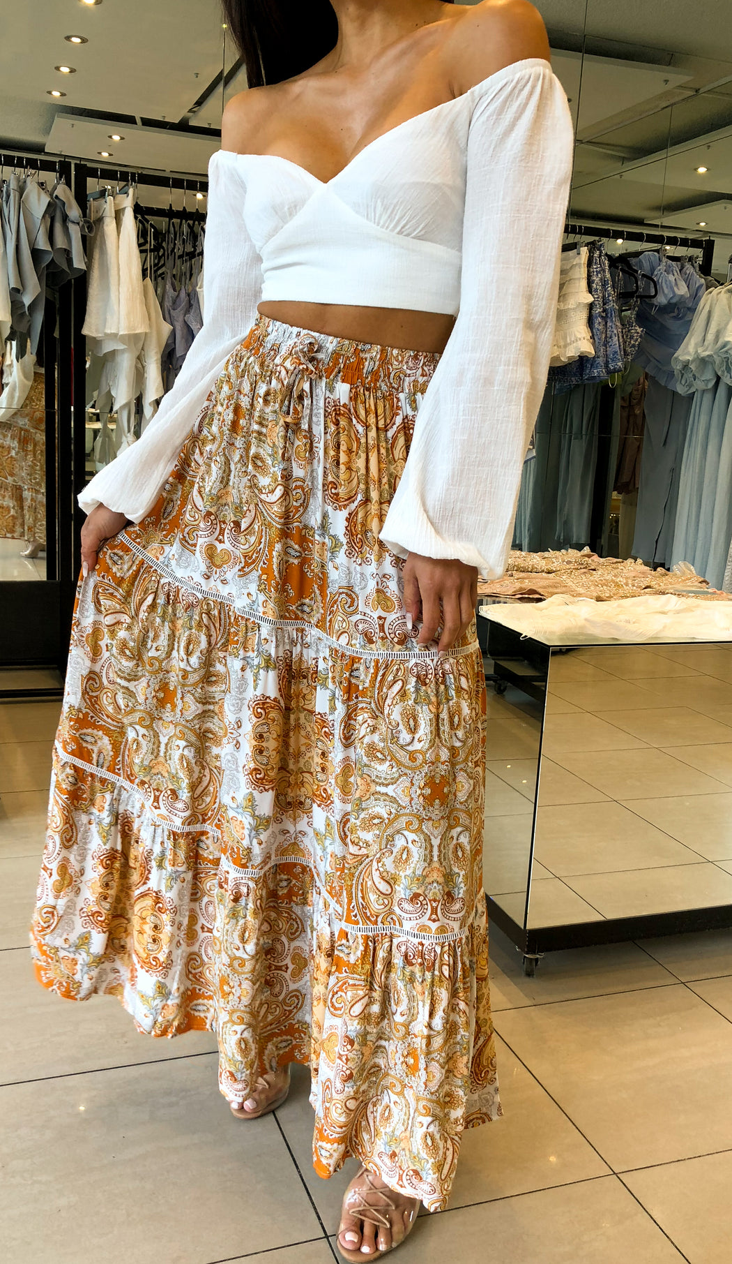 Tuscan Summer Maxi Skirt