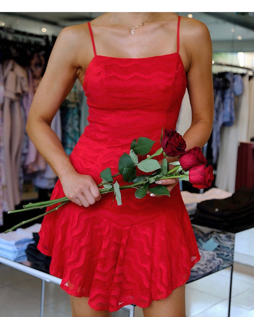 En Rouge Mini Dress