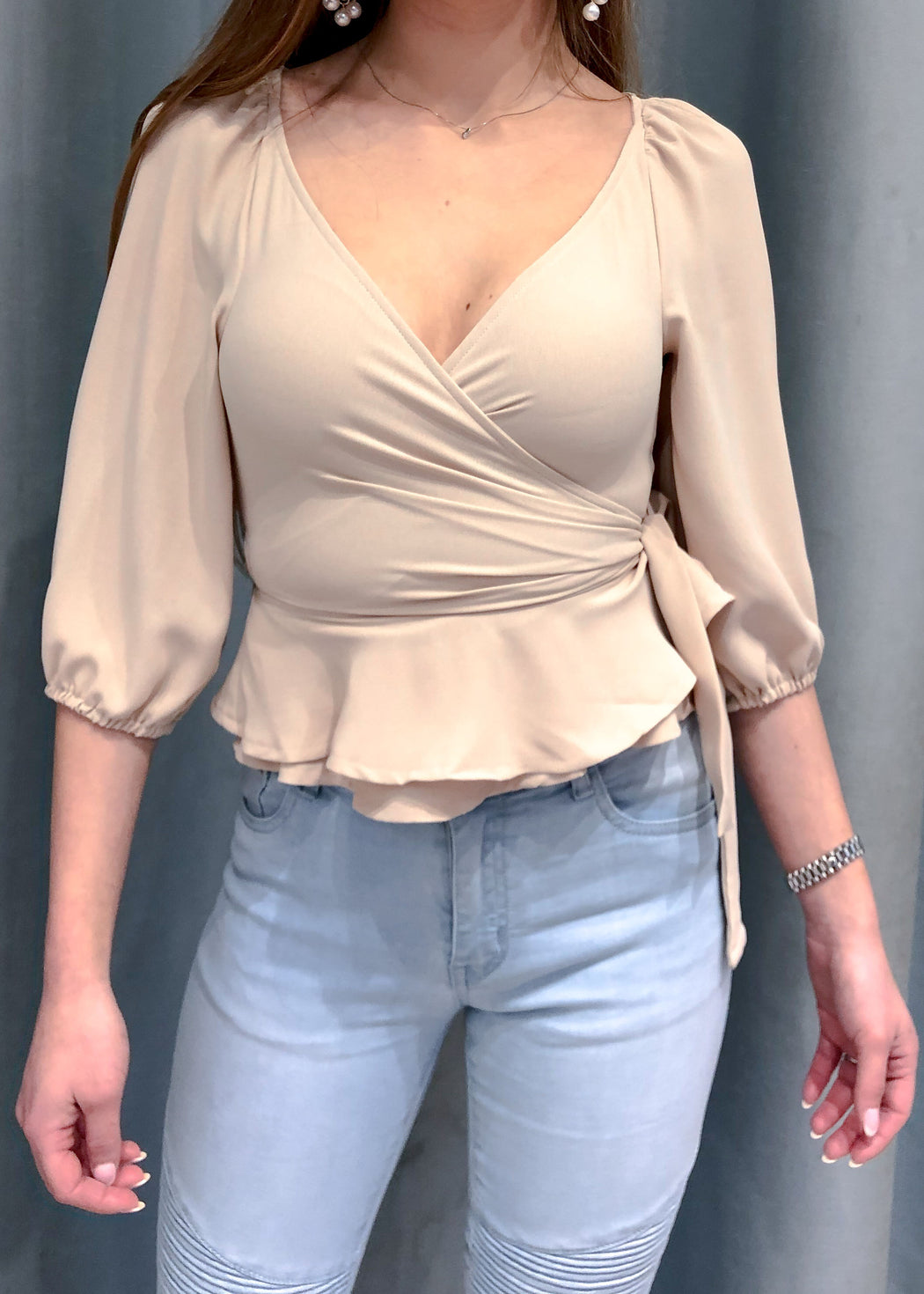 The Romance Wrap Top