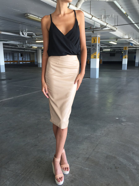 Trap Queen Skirt - Camel