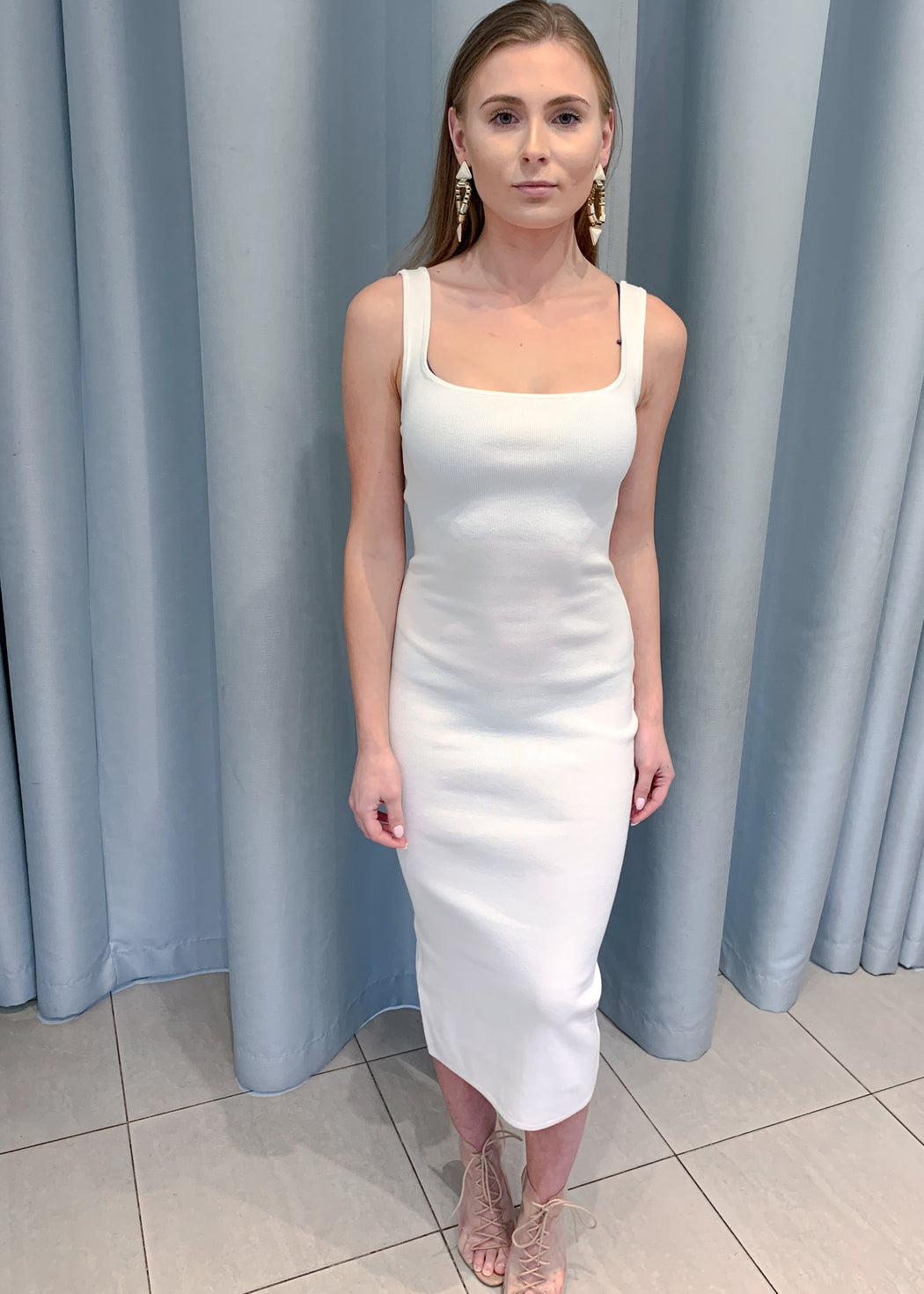 White Light Bodycon Dress
