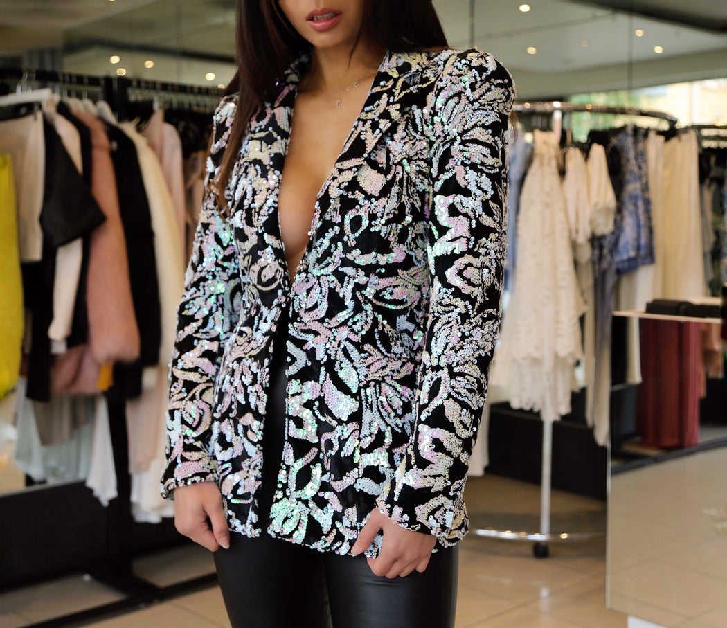 Sophia Blazer - Light Pink Sequin