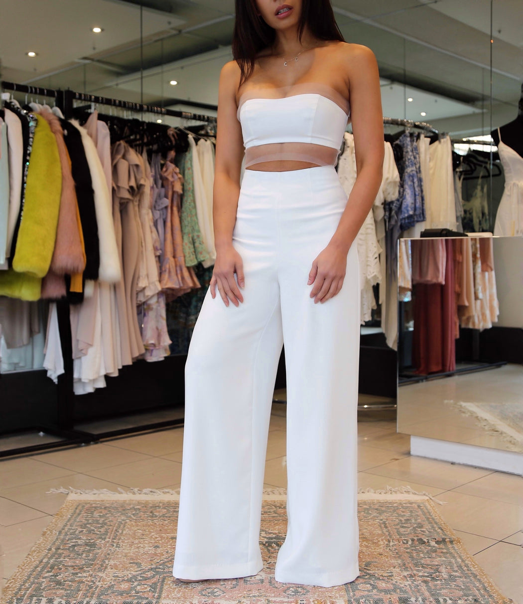 Victoria Wide Leg Pants - White