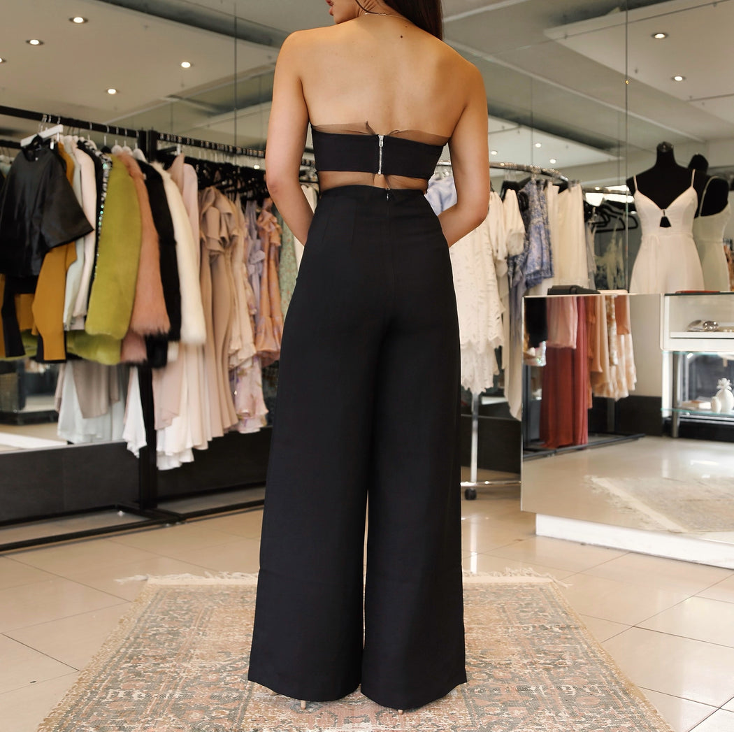Victoria Wide Leg Pants - Black