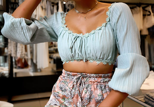 In Bloom Top - Sage