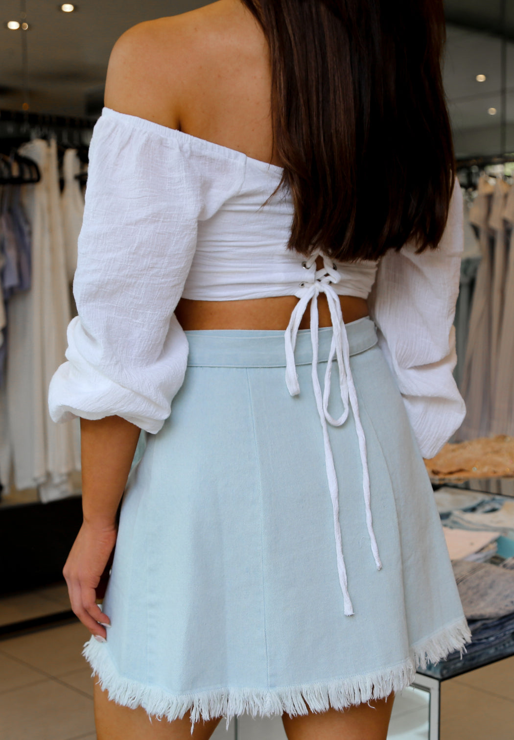 The Heat Denim Skirt