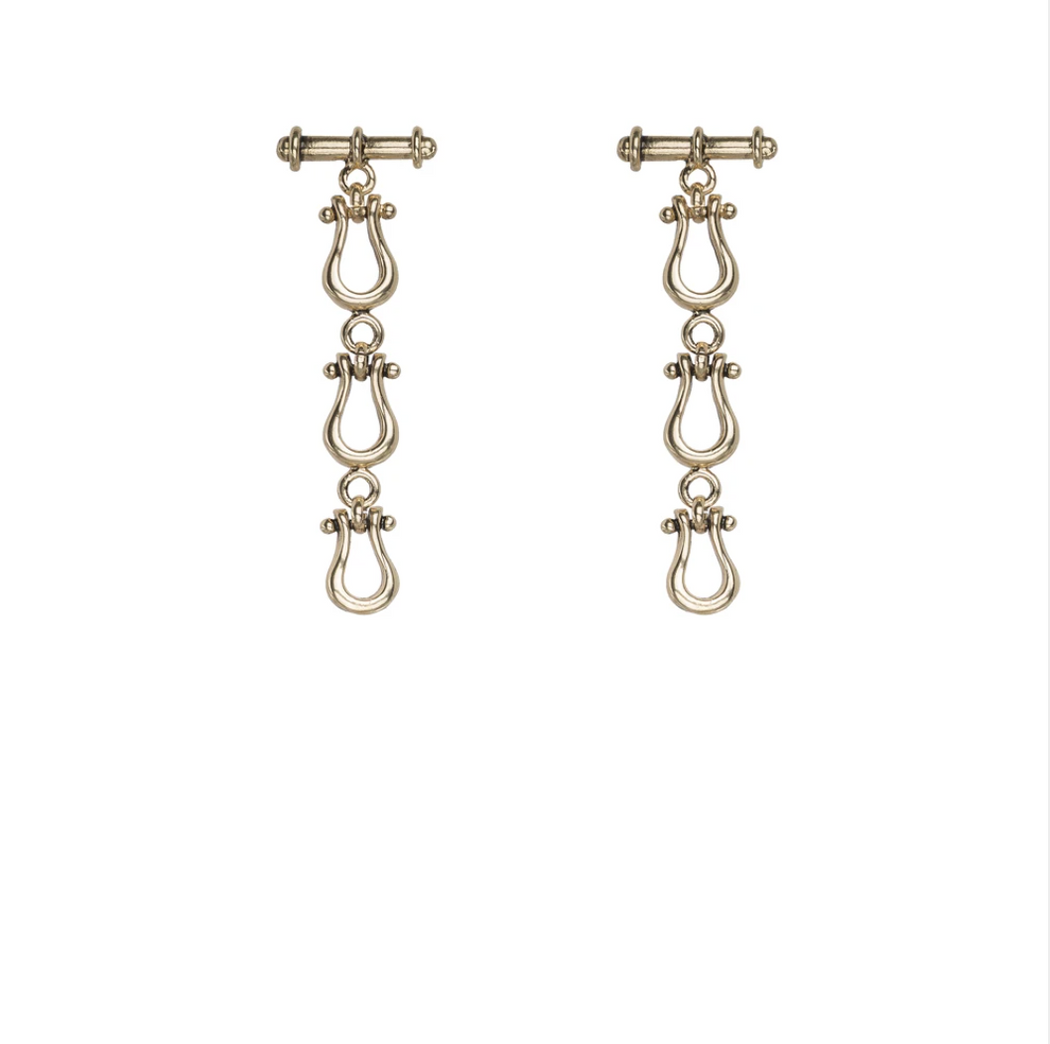 Kitte Duet Earrings - Gold