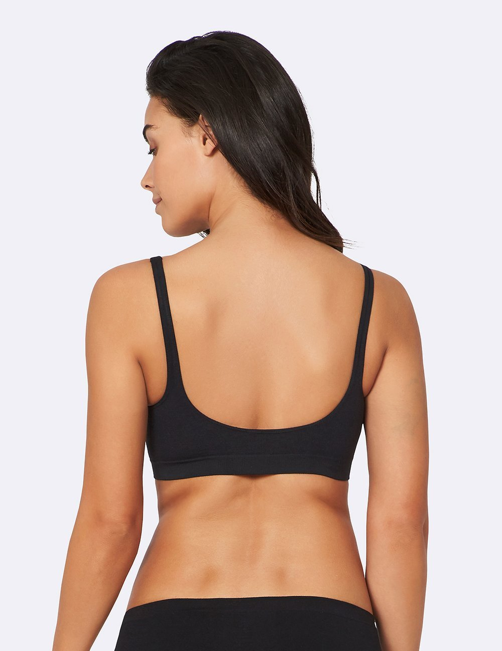 Shaper Crop Bra - Black