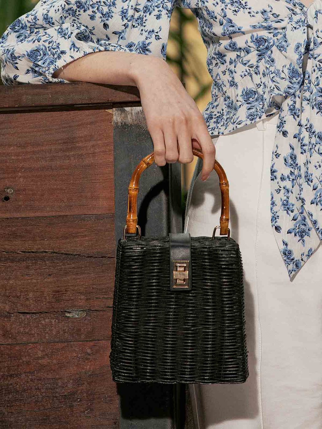 Tropicana Cane Bag - Black