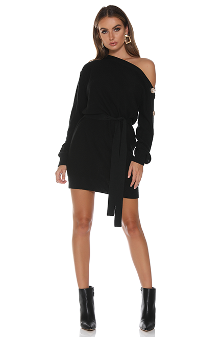 Pillowtalk Knit Dress- Black