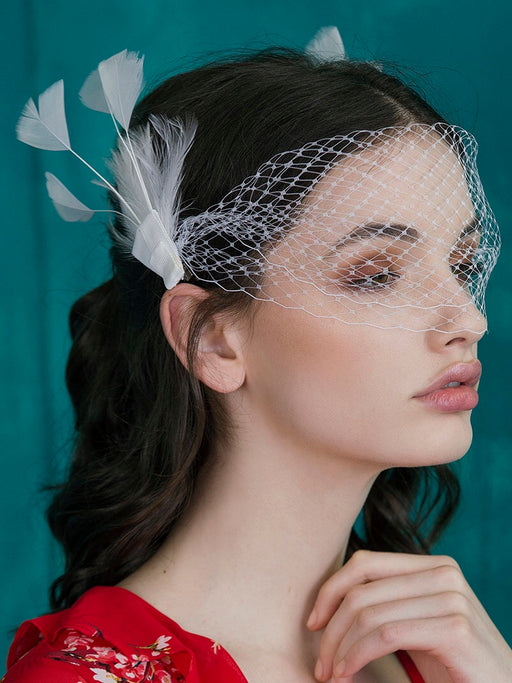 Cocktails by day headpiece - White