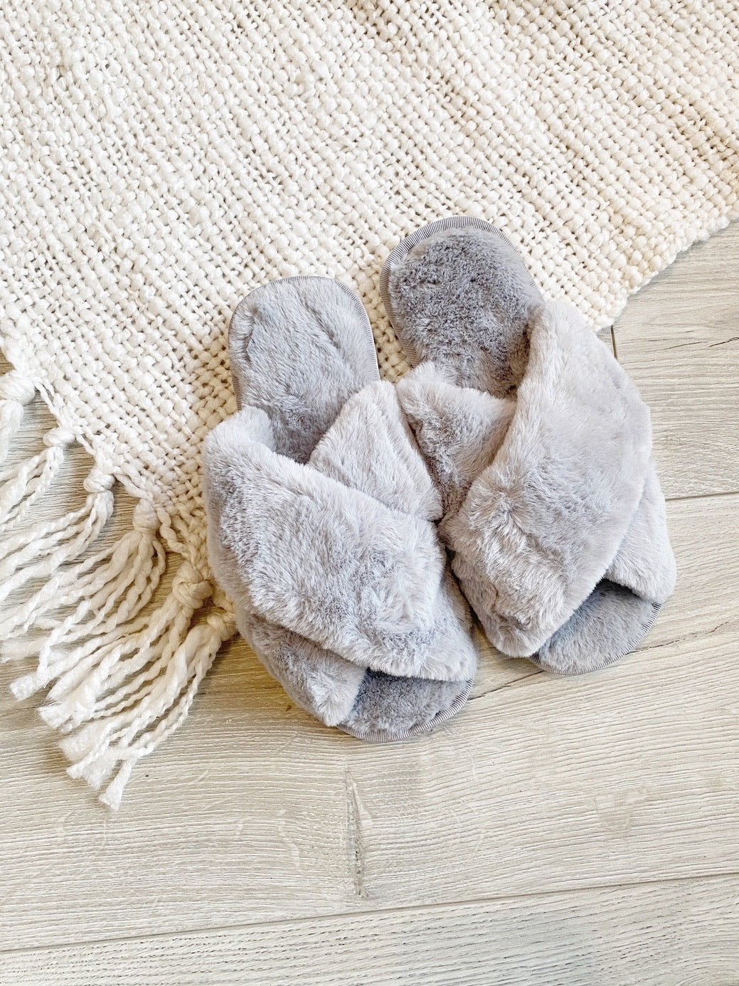 Covid Slippers- Grey