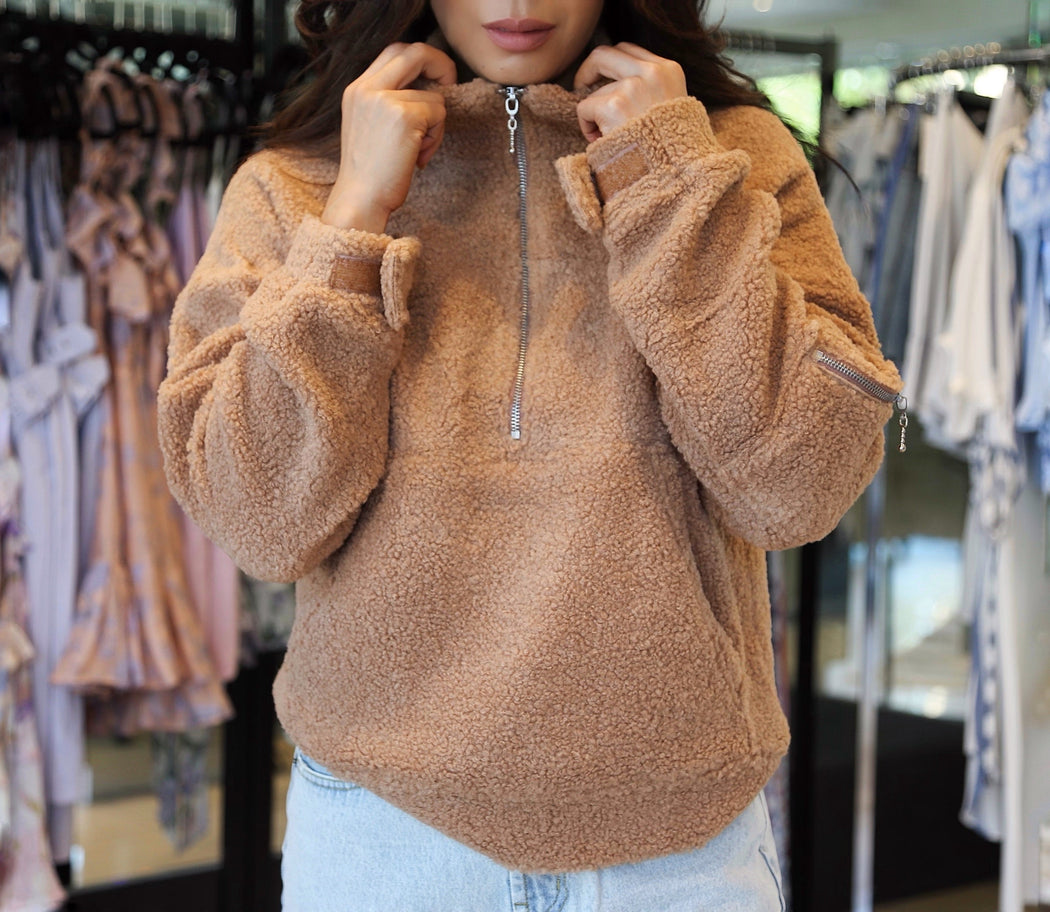 Houseparty Teddy Jumper- Caramel