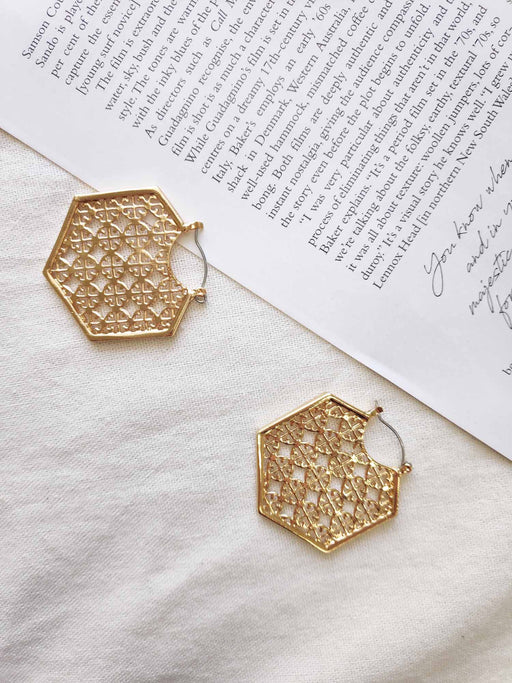 Taj Gold Earrings