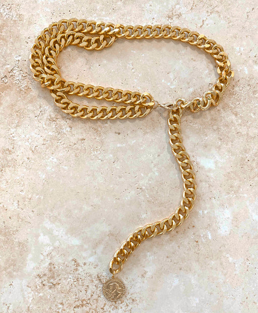 Cuban Link Belt- Gold