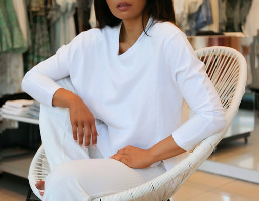 Sundown Slouchy Top - White