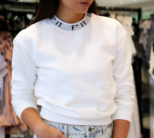 Crew Sweater - White