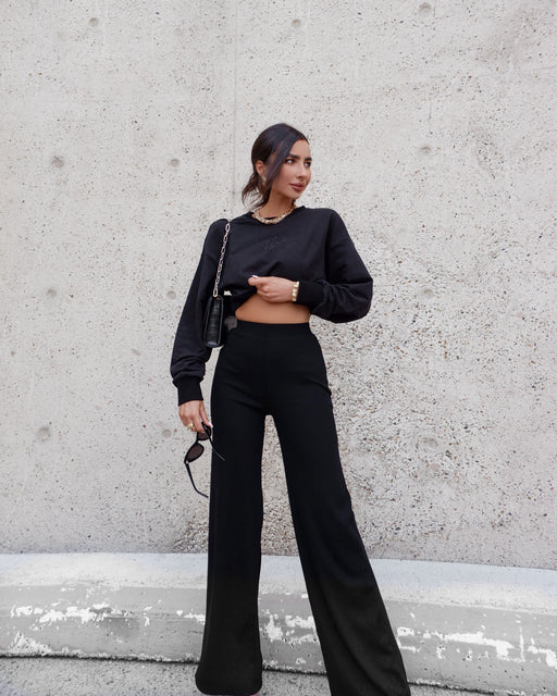 Clique Ribbed Lounge Pant - Black