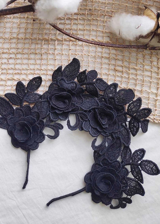 Noir Rose Lace Headband